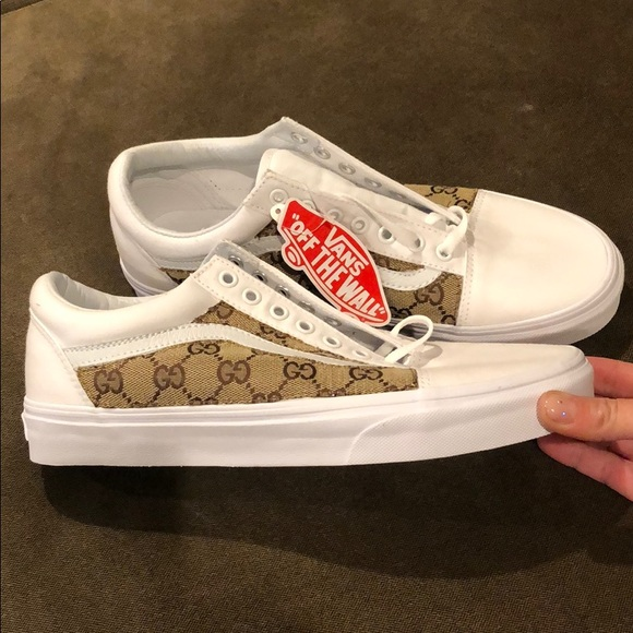 popular style top-rated genuine reputation first Custom vans sneakers/ authentic Gucci fabric NWT